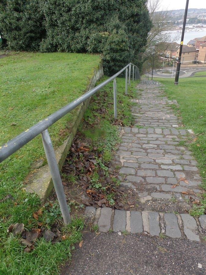 河梅德韦的看法从Churchfields,罗切斯特,英国的 免版税图库摄影