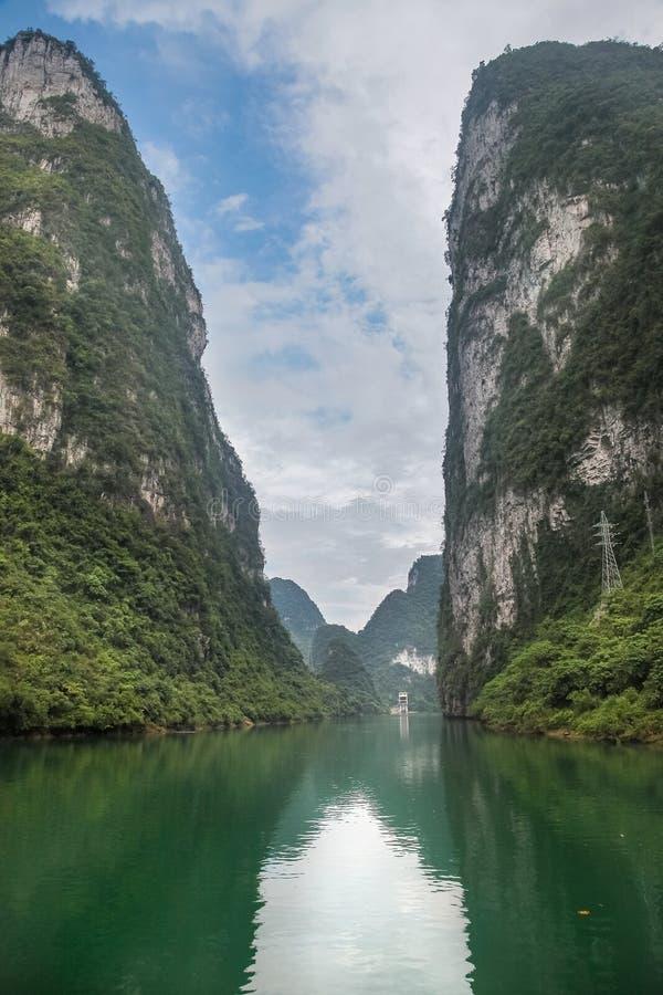 河池小三峡 库存图片