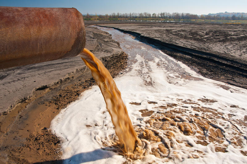 河污染 图库摄影