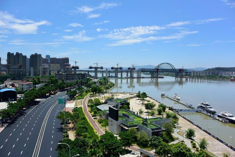 河沿风景 免版税库存图片