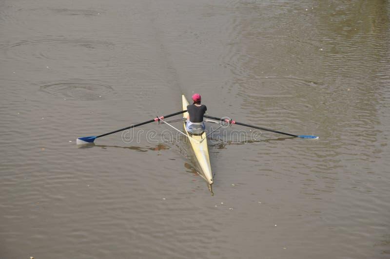 河的划船者 库存图片