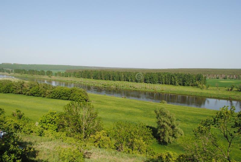 河的看法穿上 免版税库存图片