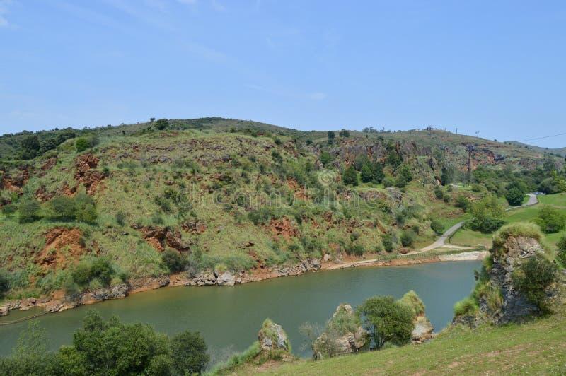 河的美好的风景 库存照片