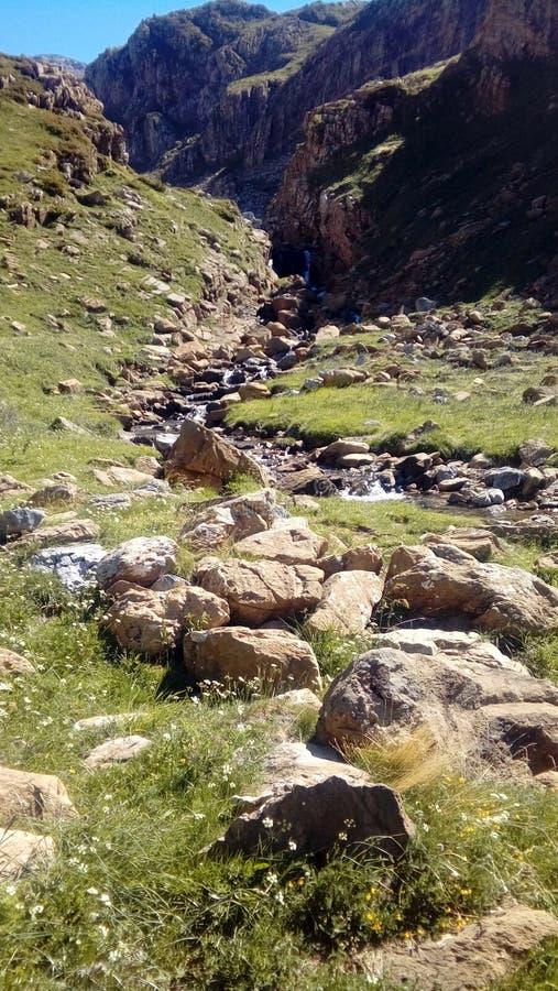 河的路线 库存图片
