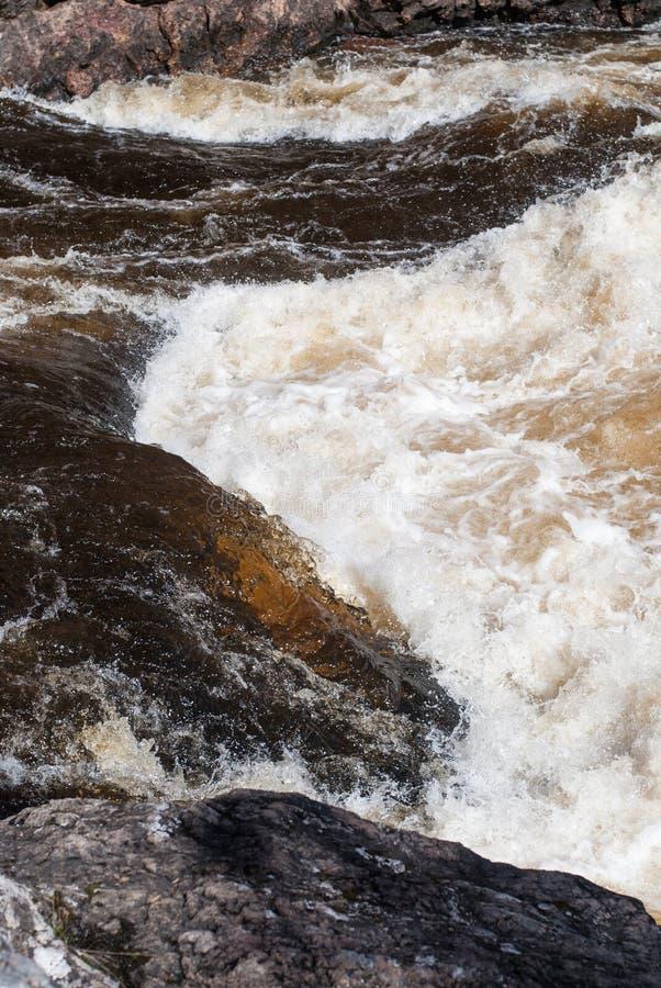 河的风雨如磐的潮流 免版税库存照片
