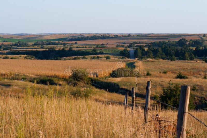 河谷的风景看法 免版税库存图片