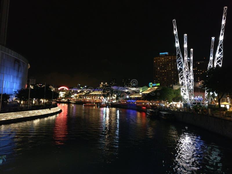 河边区克拉克码头 库存图片
