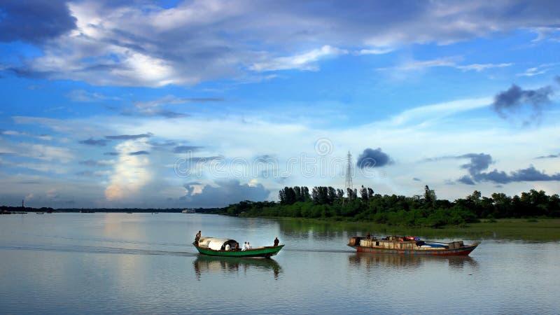 河边的孟加拉国 免版税图库摄影