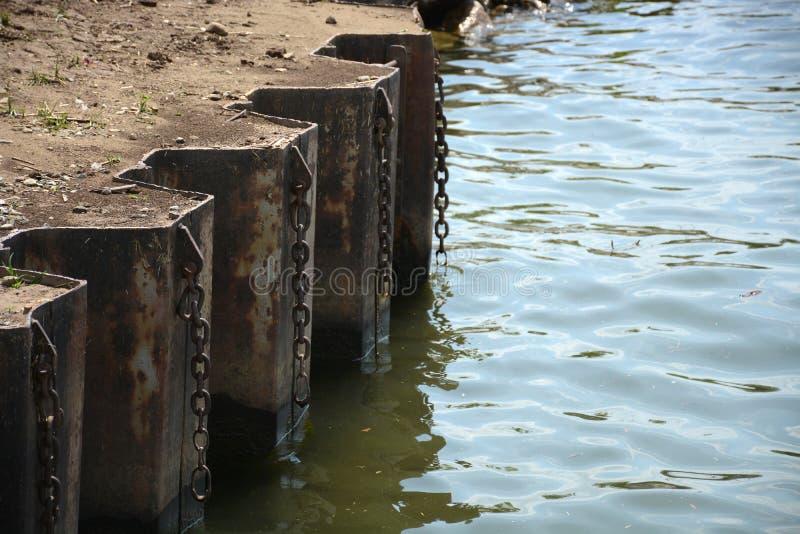 河边缘 库存图片