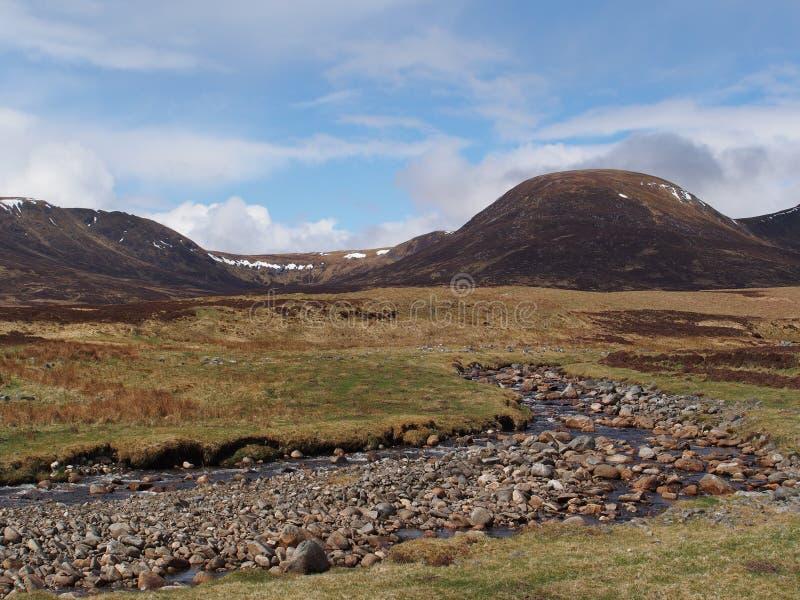 河阔德,幽谷Banchor,苏格兰高地在春天 免版税库存图片