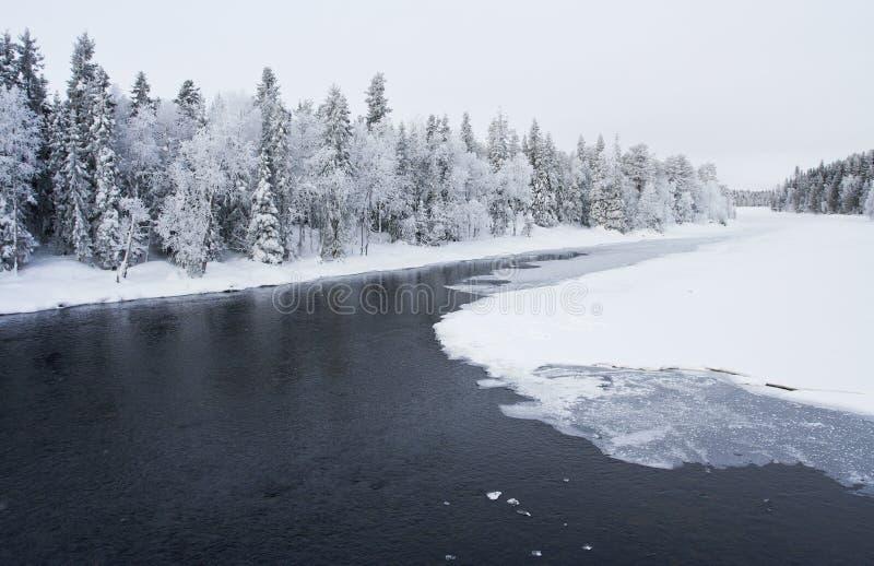 河,库萨莫,芬兰 库存图片
