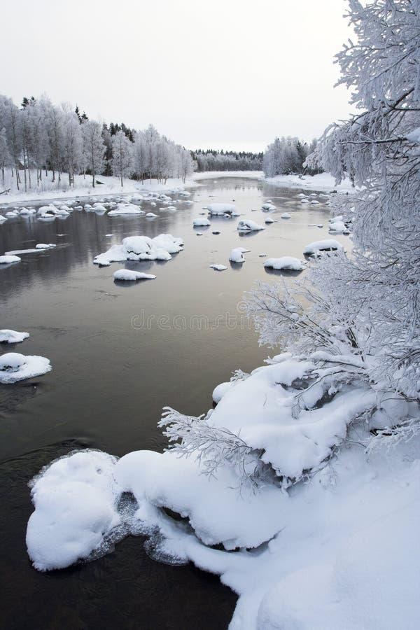 河,库萨莫,芬兰 免版税库存照片
