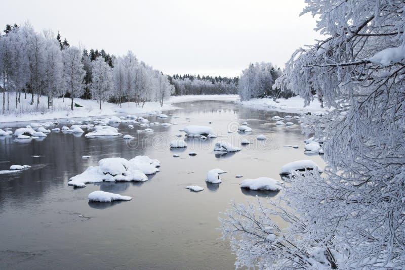 河,库萨莫,芬兰 库存照片