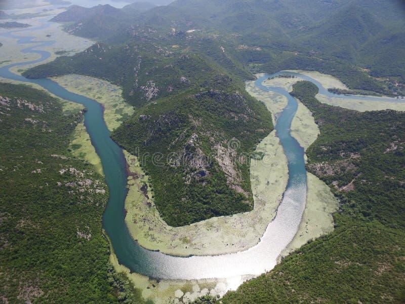 河Crnojevica,黑山峡谷  免版税库存图片
