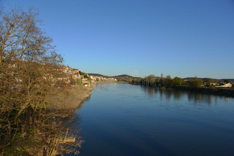 河Gardon在法国 免版税库存图片