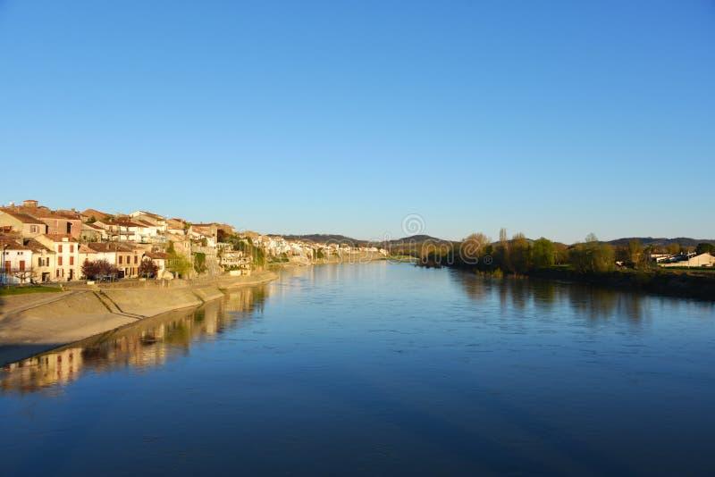 河Gardon在法国 免版税库存照片