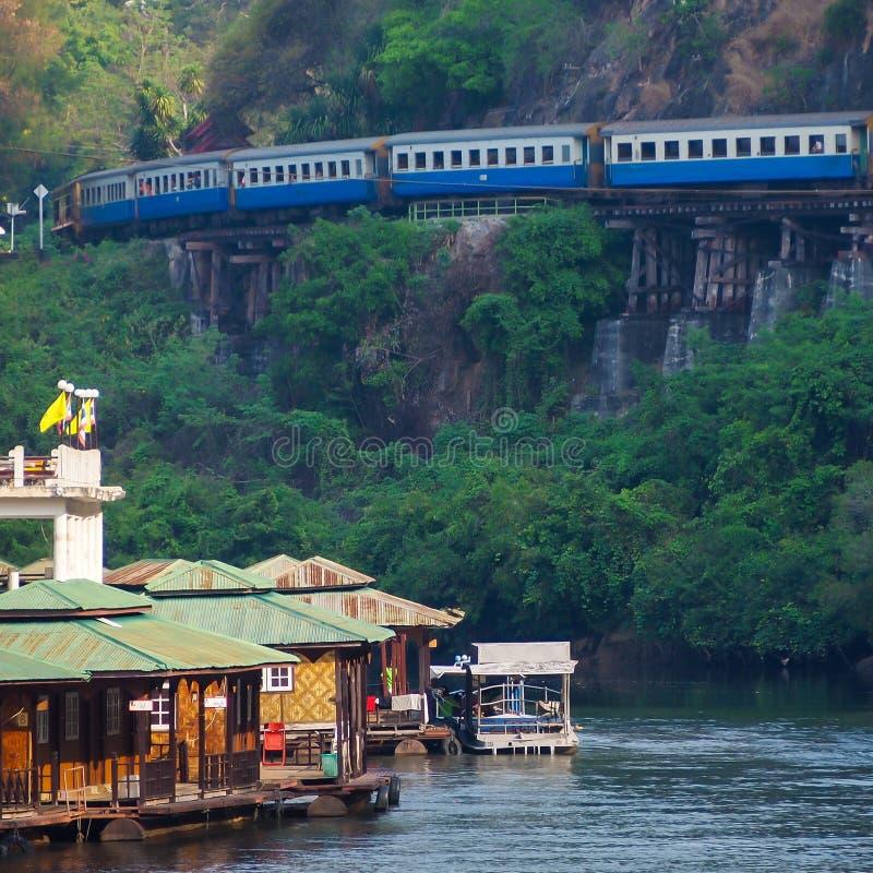 河Kwai和死亡铁路和桥梁 库存图片