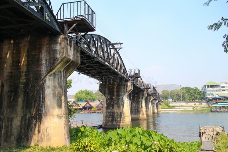 河kwai的桥梁 库存图片