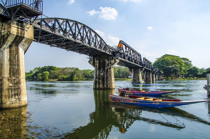 河Kwai,北碧,泰国的桥梁 库存照片