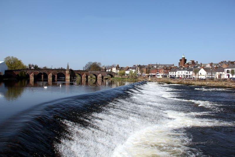 河Nith在邓弗里斯,苏格兰 图库摄影