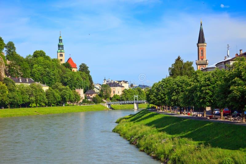 河salzach萨尔茨堡 库存图片
