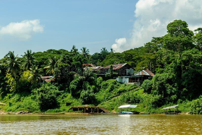 从河tembeling的Sungai的风景 库存图片