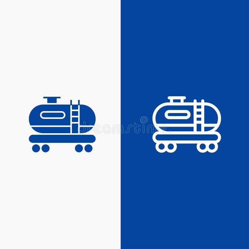 油、坦克、污染线和纵的沟纹坚实象蓝色旗和纵的沟纹坚实象蓝色横幅 库存例证