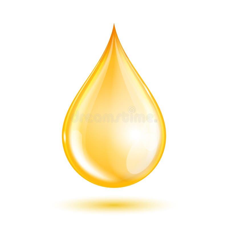 油下落  向量例证