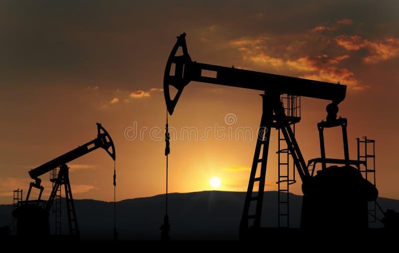 油井农场 免版税图库摄影