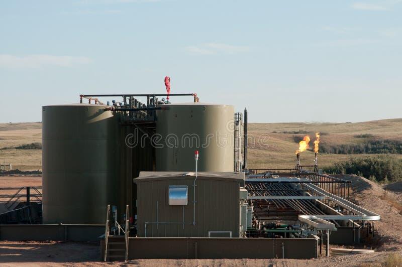油井在工作 免版税图库摄影
