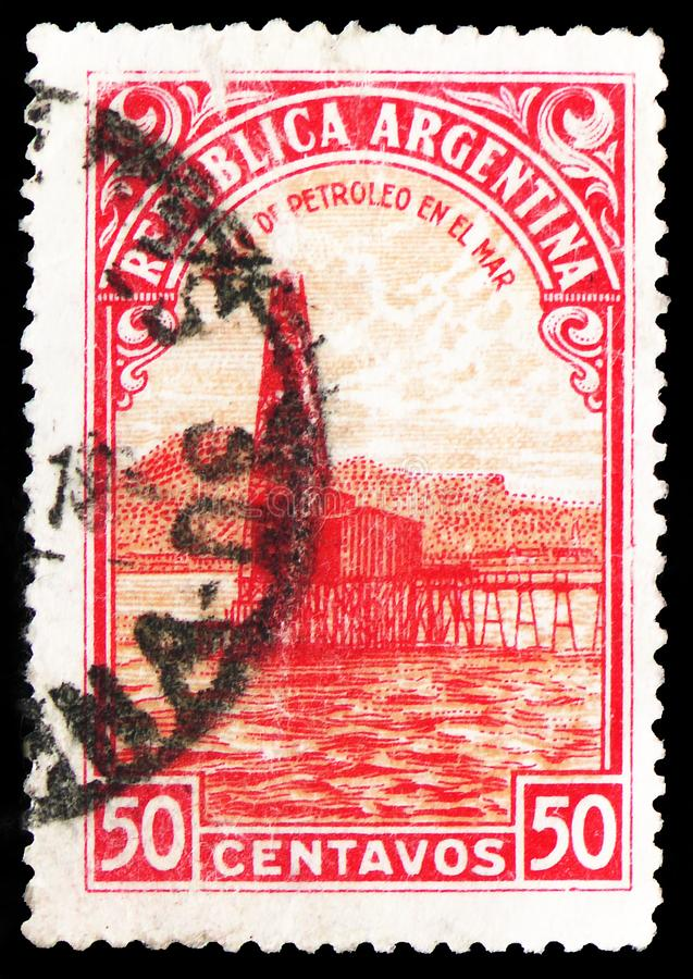 油井,国家产品serie,大约1949年 免版税库存图片