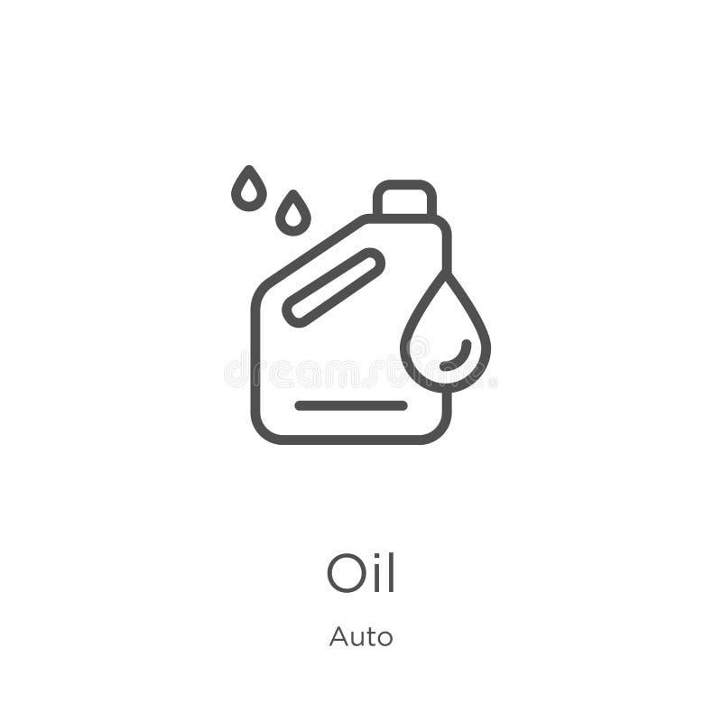 油从自动收藏的象传染媒介 稀薄的线油概述象传染媒介例证 概述,稀薄的线网站的油象 皇族释放例证