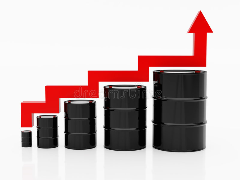 油价上升 皇族释放例证