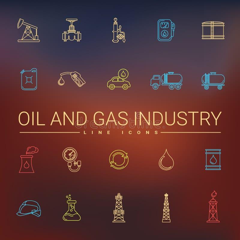 油和煤气产业线象 皇族释放例证