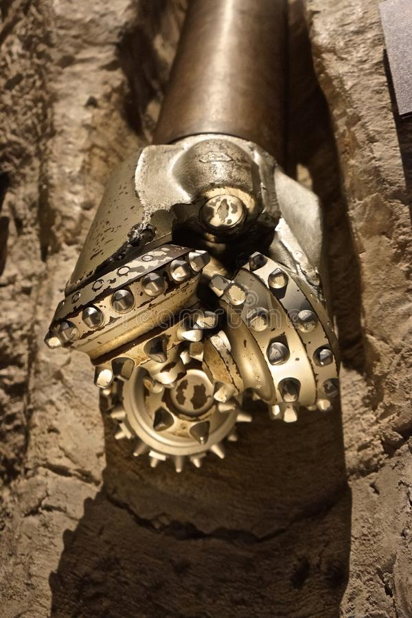 油和煤气探险的专业三锥体钻头 免版税图库摄影