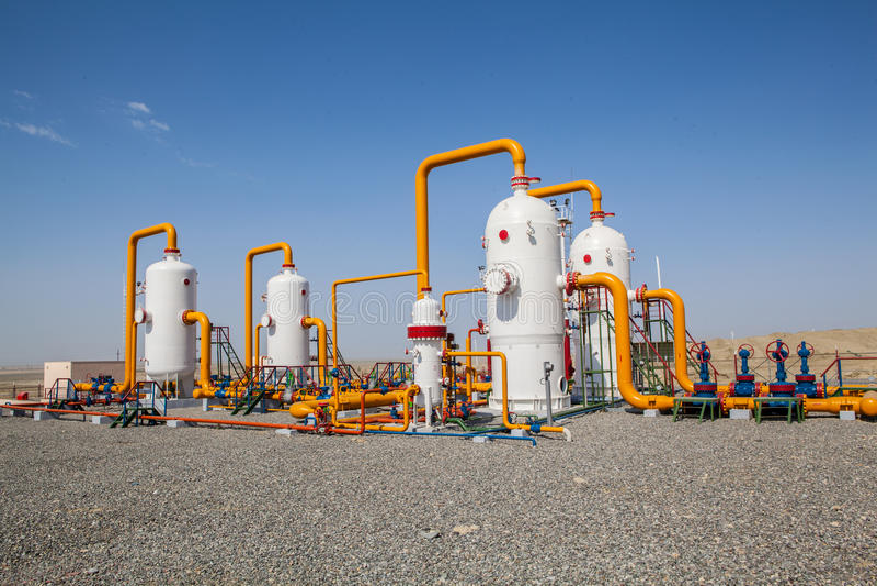 油和煤气refinator压缩机 免版税库存照片