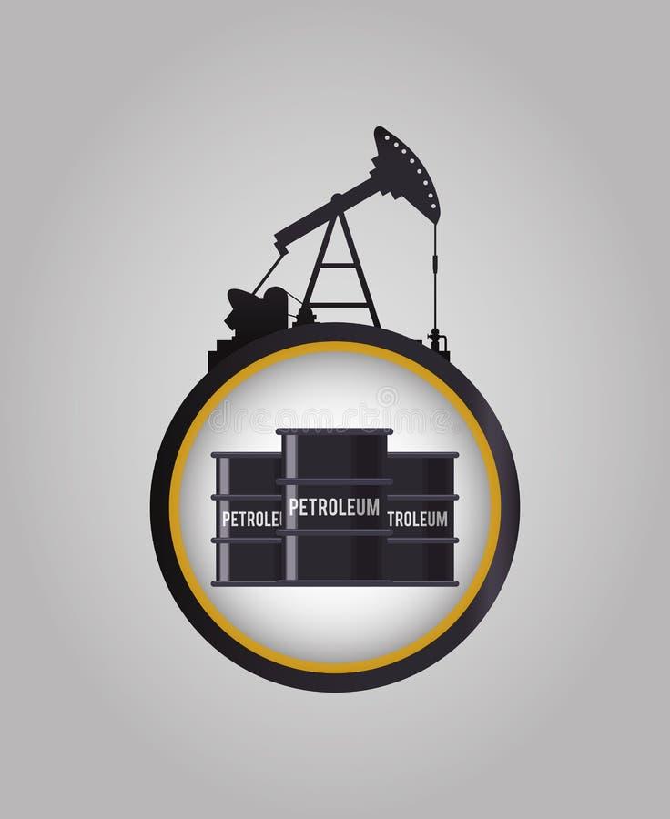 油和石油工业 库存例证