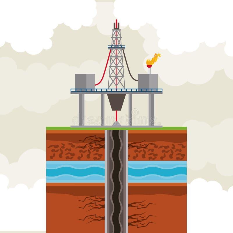 油和石油泵浦圆的象 皇族释放例证