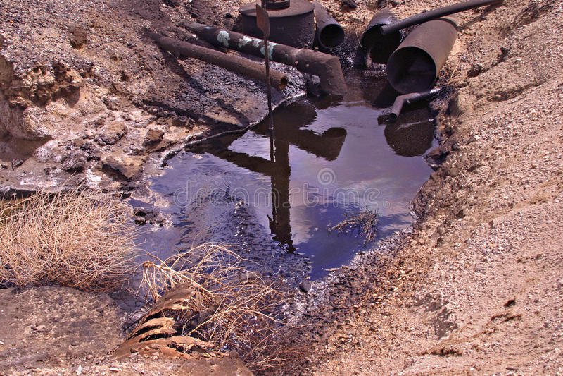 油坑挖坑s 免版税库存照片