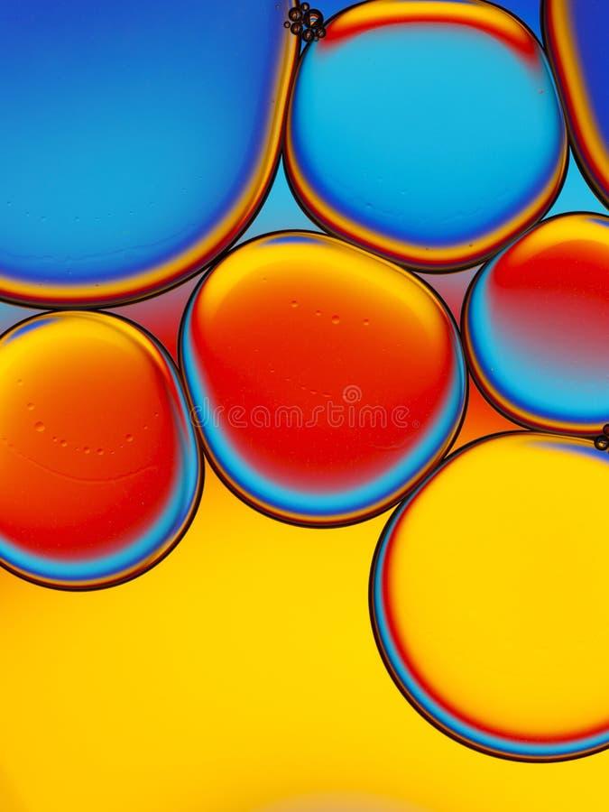 油小滴的抽象图象 库存照片