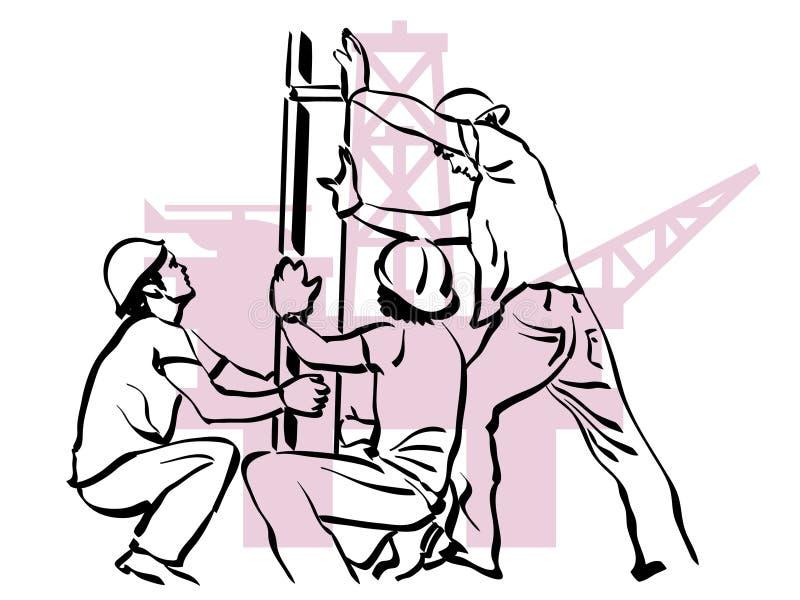 油工作者 向量例证