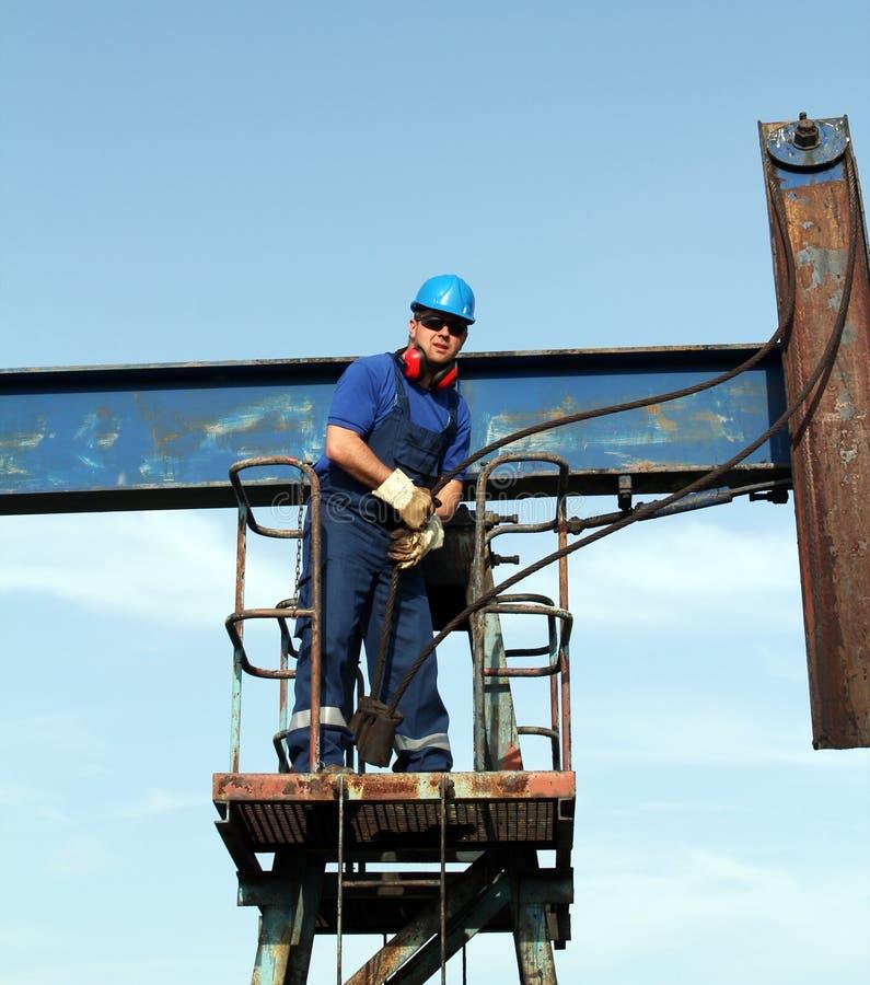 油工作者 免版税库存图片