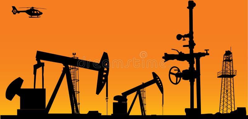 油时间 向量例证