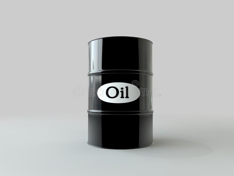 油桶在白色背景的 到达天空的企业概念金黄回归键所有权 美元 美国 向量例证