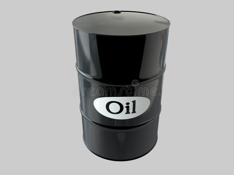 油桶在白色背景的 到达天空的企业概念金黄回归键所有权 美元 美国 皇族释放例证