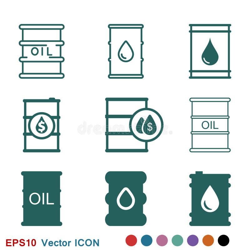 油桶容器象商标,例证,传染媒介设计的标志标志 向量例证