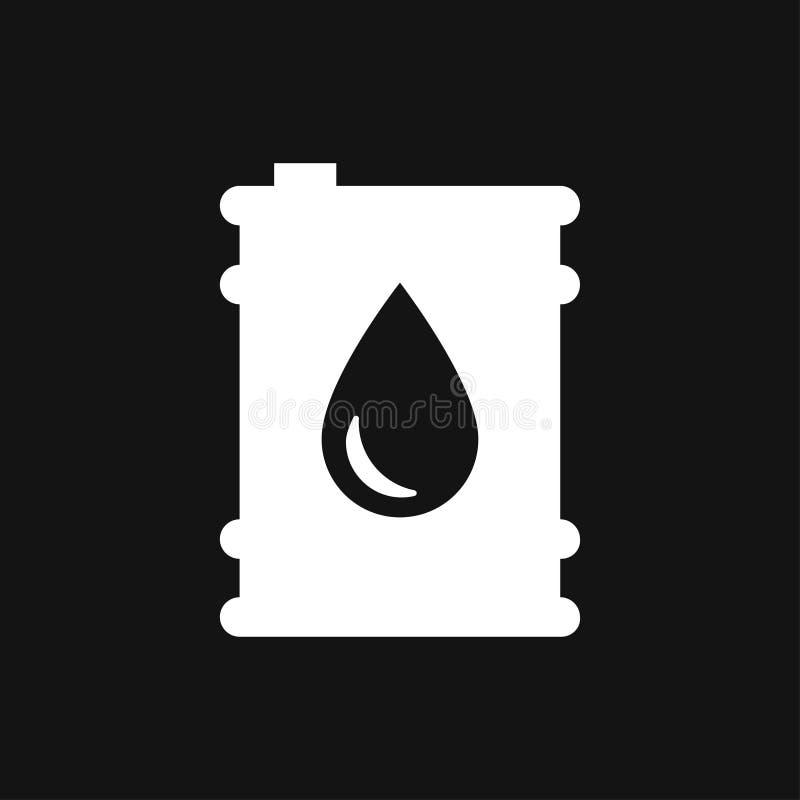 油桶容器象商标,例证,传染媒介设计的标志标志 库存例证