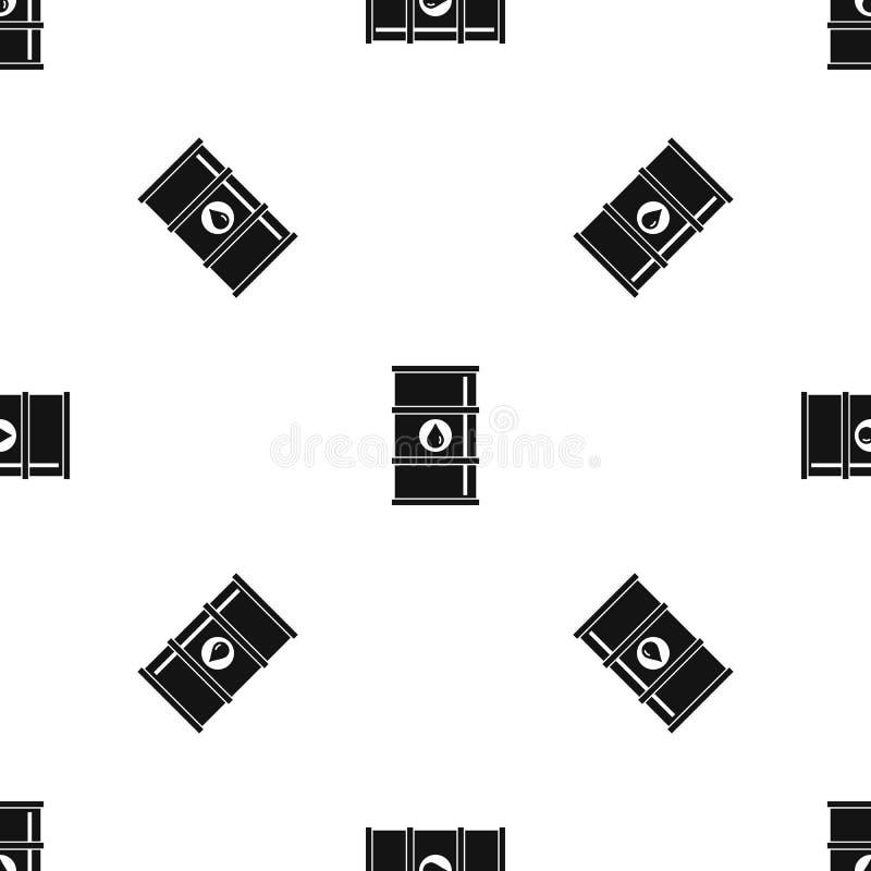 油桶样式无缝的黑色 向量例证