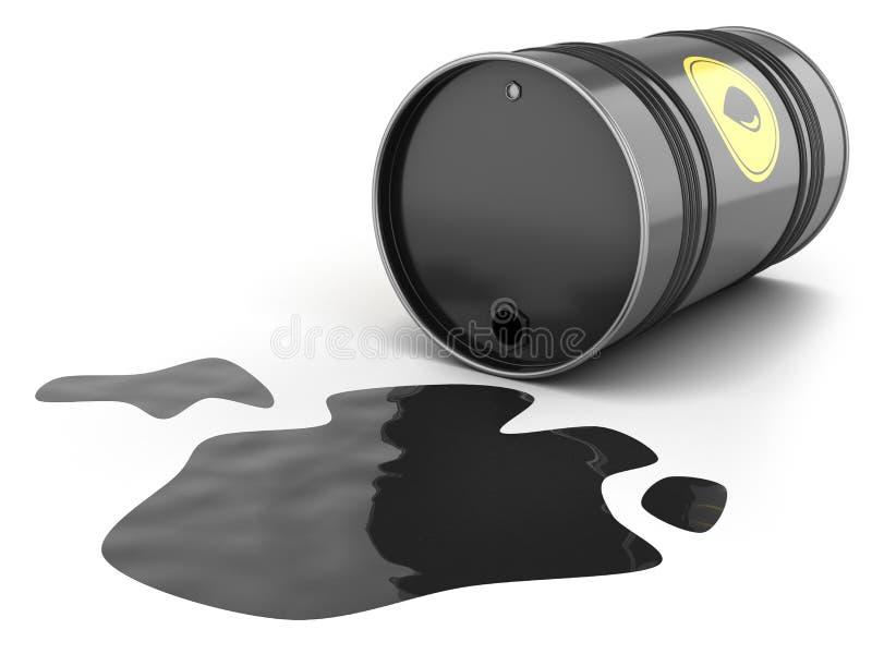 油桶溢出水坑 皇族释放例证