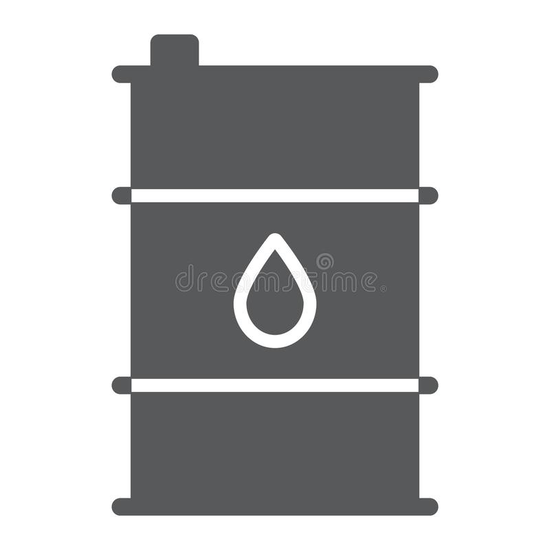 油桶纵的沟纹象、容器和产业,油箱标志,向量图形,在白色背景的一个坚实样式 库存例证